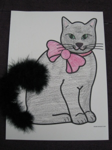 Kitty with marabou tale
