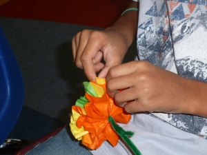 You need to tug very gently to separate the petals!