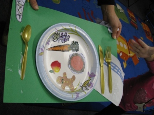 Kids had great fun putting together their dinners.